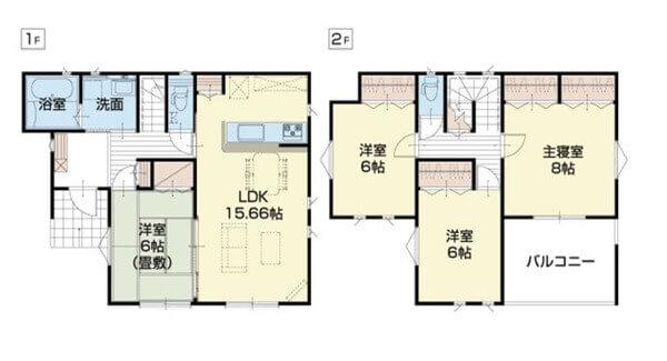 2 階 30 坪 建て 間取り 2階リビングの間取り 30坪